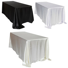1pcs Satin Tablecloth Rectangular Hotel Banquet Table Cloth for Wedding Party Christmas Cover Home Decoration