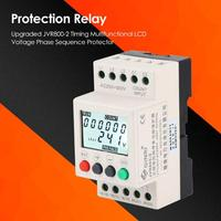 Din Rail Mounted Protection Relay Over Voltage Under Voltage Protective Device Practical Necessary Household Accessories