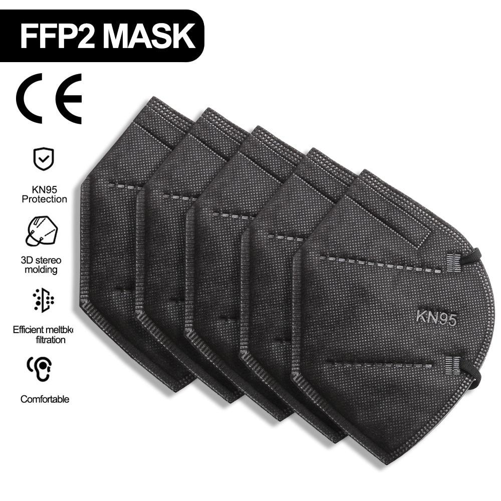 KN95 FFP2mask Reusable Masks Mascarillas Black Mondkapjes KN95 Spain Mondmasker Mascarilla-ffp2 Resp