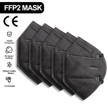 KN95 FFP2mask Reusable Masks Mascarillas Black Mondkapjes KN95 Spain Mondmasker Mascarilla-ffp2 Respiratory Mask Safty Masker