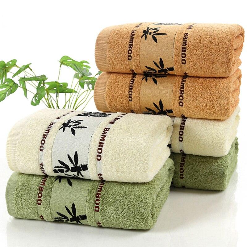 100% Bamboo Towels Super Soft Face Bath Towel Set Summer Cool Bamboo Fiber Bathroom Towels For Adults Absorbent Healthy Toalla
