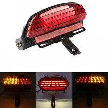 Đèn LED Xe Máy Trị Thanh Fender Đuôi Phanh LED Tín Hiệu Đèn Biển Chân Đế Cho Harley Softail FXSTB FXST
