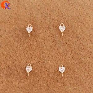 Image 5 - Accesorios de joyería de 5x9MM con diseño de Cordial, conectores de joyería de cristal, forma de corazón, hechos a mano, DIY, accesorios para pendientes, 100 Uds.