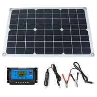 Solar Panel 12V 20W USB Monocrystalline Solar Panel with Car Charger for Outdoor Camping Emergency Light Waterproof