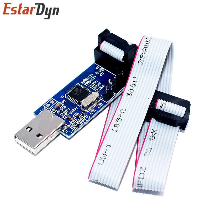 USBASP USBISP AVR программист USB ISP USB ASP ATMEGA8 ATMEGA128 Поддержка Win7 64K 10Pin до 6 Pin адаптер доска