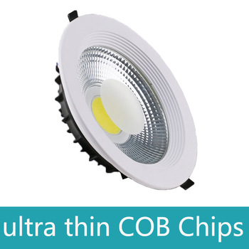 new Dimmable Led Downlight COB Spot LED 5w 10w 20w 30w 40w 60w led recessed ceiling Lamp Warm Cool White led Spot Indoor Lights dimmable led downlight spot lights ceiling backdrop ceiling down lamp include driver 10w 2 10w white shell black shell