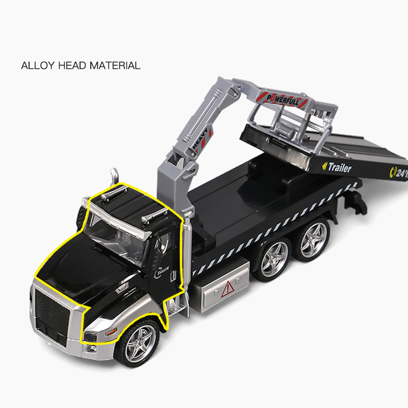 Alloy Car Models Engineering Car Wrecker Truck Trailer Rescue Vehicle Children Boy Toy Car Model