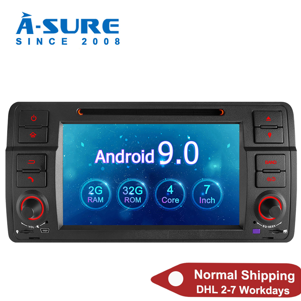 EINE-Sicher Auto Multimedia 7'' 2 Din Android 9,0 Auto Auto Radio GPS DVD Player Stereo Navigation Für BMW e46 Rover 1998-2006 M3 MG ZT