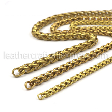 1 meter Solid brass Open curb Link Chain Necklace Wheat 6/8/10mm none-polished Bags Straps Parts DIY Accessories DM194