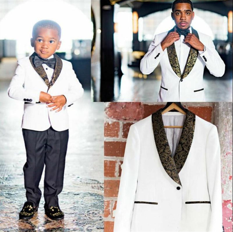 White Wedding Tuxedos Groom Suits Bridegroom Ring Boy Slim Tuxedos Formal Prom 2 Vents Only The Suit