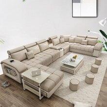 Мебель для гостиной, современный тканевый диван, Европейский секционный диван 1901