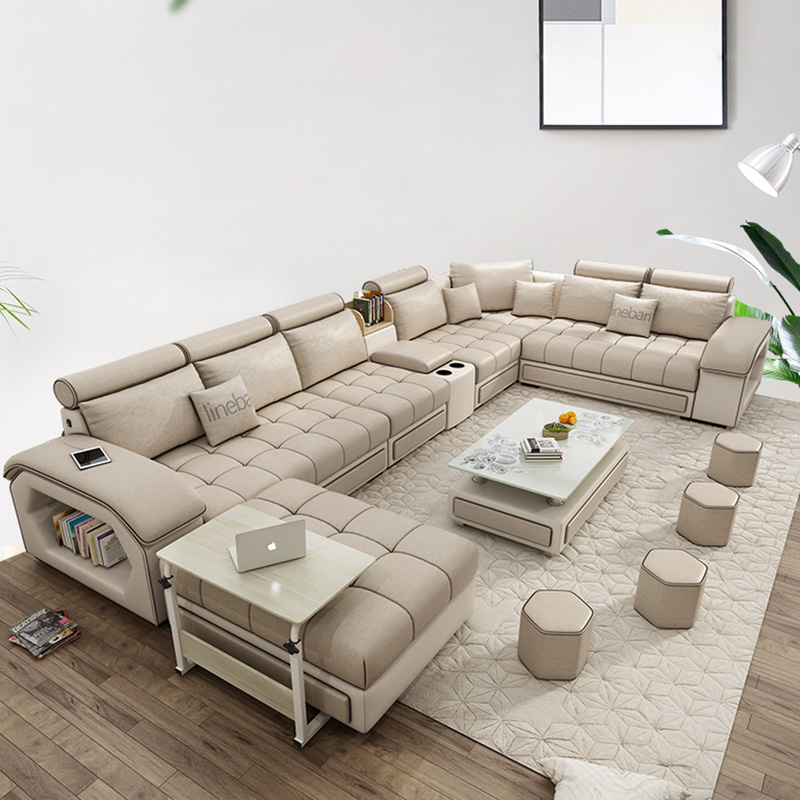 Living Room Furniture Modern Fabric Sofa European Sectional Sofa Set 1901