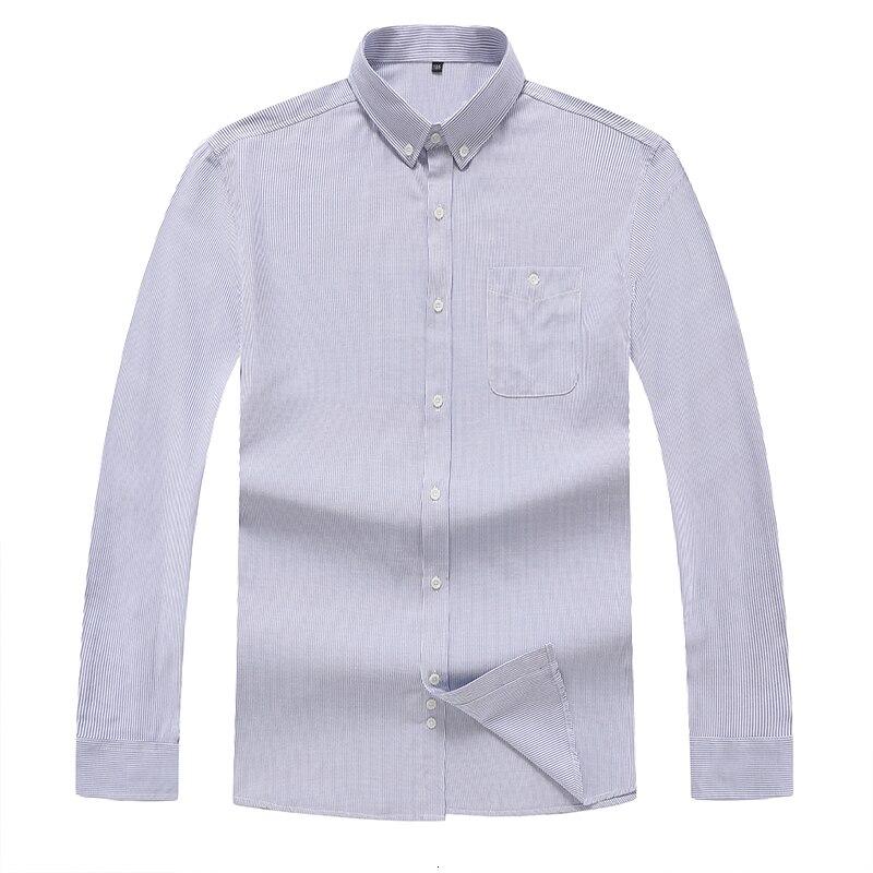 8XL 7XL Plus Size Men Striped Long Sleeve Shirt Mens Dress Shirts Spring Autumn Camisa Masculina Man Top Casual Male Shirt Tops