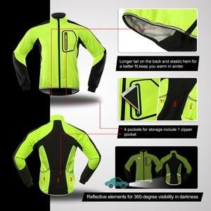 Image 4 - Bergrisar, Мужская зимняя велосипедная куртка, комплект, ветрозащитная, водонепроницаемая, термальная спортивная одежда, велосипедные штаны, велосипедные костюмы, одежда Bg011zy