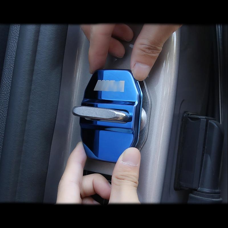4 шт. стайлинга автомобилей крышка замка двери автомобиля Кепки защитный пульт дистанционного управления для BMW 1 2 3 4 5 7 серия X1 X2 X3 X4 X5 X6 F30 F10 ...