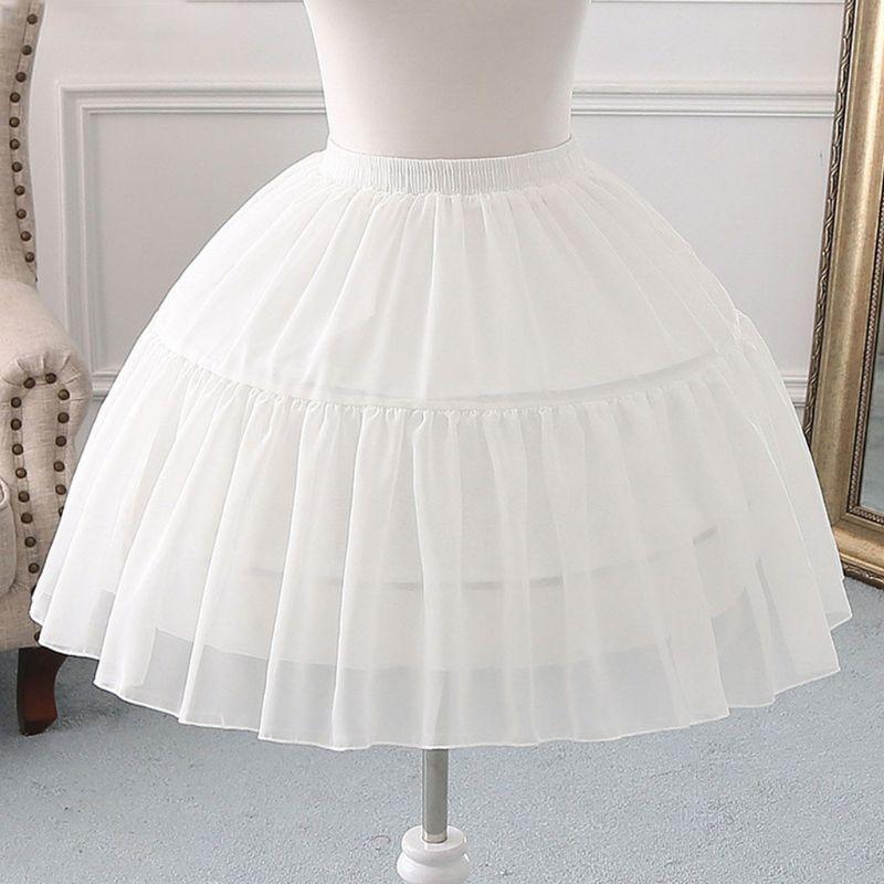 Cosplay Fish-bone Short Skirt Lolita Carmen Slip Liner Cute Girls Skirts Adjustable Petticoat
