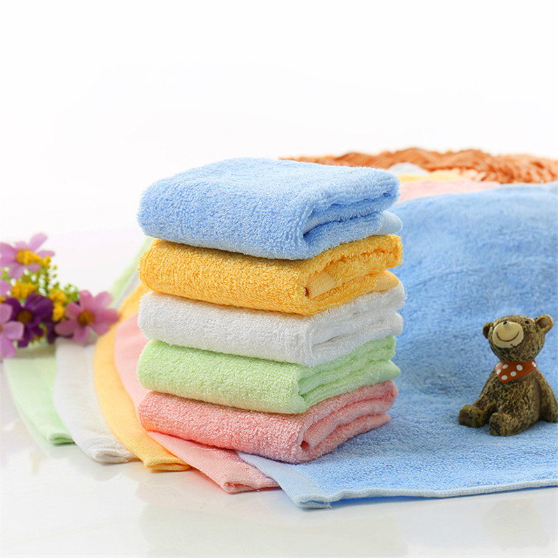 5pcs/lot 25*25cm ULTRA SOFT Baby Bath Washcloths Rayon From Bamboo Towels Perfect Baby Gifts Baby Travel Bathing Kits