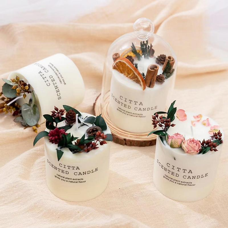 Aromatherapy Candle Soy Wax Aromatherapy Candle Romantic Pillar Candle Holiday Wedding Home Decoration