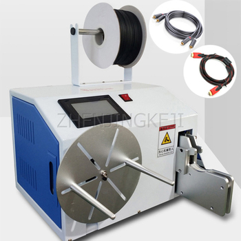 220v automatic cnc programming winding machine Semi-automatic Winding Tie Machine Data Line Winding One Machine Touch Screen Button Round Eight Characters Shape Winding Tools