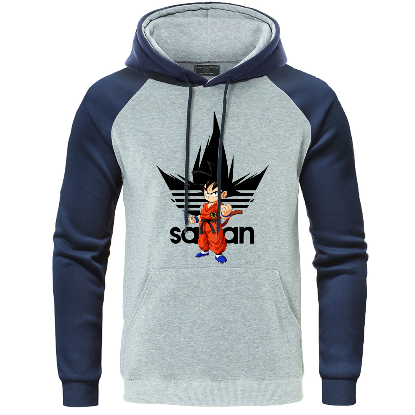 Super Saiyan Raglan Pullover Dragon Ball Hoodies Dragonball Goku Sweatshirts Japanese Anime Harajuku Men Streetwear Autumn Hoody