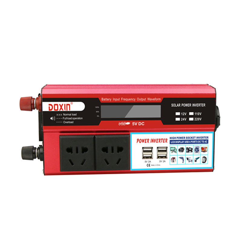 <font><b>1000W</b></font> <font><b>Car</b></font> <font><b>Power</b></font> <font><b>Inverter</b></font> <font><b>DC</b></font> <font><b>12V</b></font> <font><b>To</b></font> <font><b>AC</b></font> <font><b>220V</b></font> Portable <font><b>Car</b></font> <font><b>Power</b></font> Charger Converter Adapter Socket Modified Sine Wave image