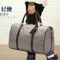 Luxus gedruckt persönlichkeit große-kapazität handtaschen einfache männer taschen designer gepäck retro leder reise seesack