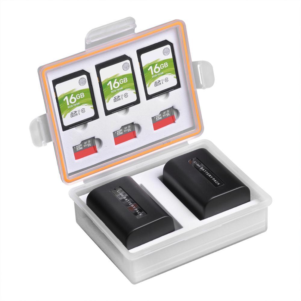 Caméra Batterie Boîte De Stockage SD TF étuis de carte mémoire pour Canon LP-E17 LP-E12 Sony NP-FW50 NP-FV50 Fuij NP-W126 Batteries Conteneur