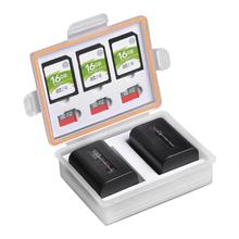 Camera Battery Box Storage SD TF Memory Card Case for Canon LP-E17 LP-E12 Sony NP-FW50 NP-FV50 Fuij NP-W126 Batteries Container цена и фото