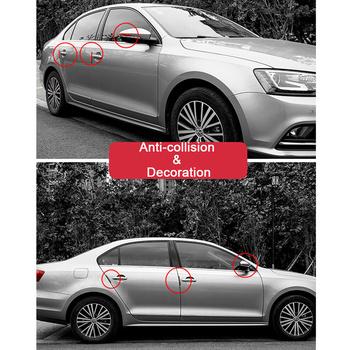 6 sztuk Auto drzwi samochodu ochrona krawędzi osłony bufor wyprofilowane osłony taśmy zabezpieczenie przed zarysowaniem gumowy odbojnik drzwi samochodu dla BMW Audi tanie i dobre opinie CN (pochodzenie) 1 6cm 2020 Car Door Guard Edge Corner Protector 12 8cm Stylowe listwy Protect car doors and rearview mirrors