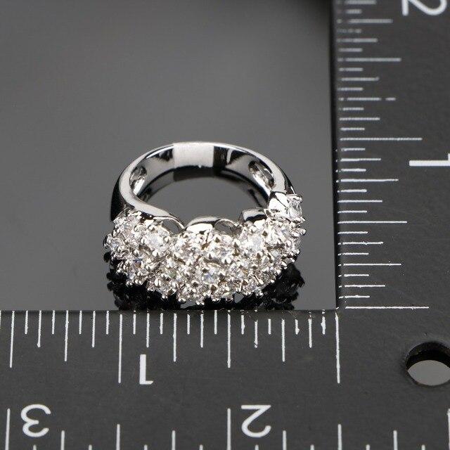 Фото набор свадебных украшений из серебра 925 пробы с белым цирконием цена