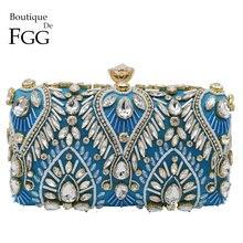Boutique De FGG Vintage Mujer con cuentas noche embrague bolsos nupcial boda rhinestone monederos fiesta Cocktail bolsos