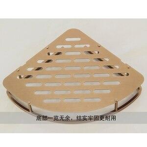 Image 5 - Mensola triangolare per doccia triangolare a due strati con cestello da bagno in bronzo antico, accessori da bagno in stile europeo in alluminio
