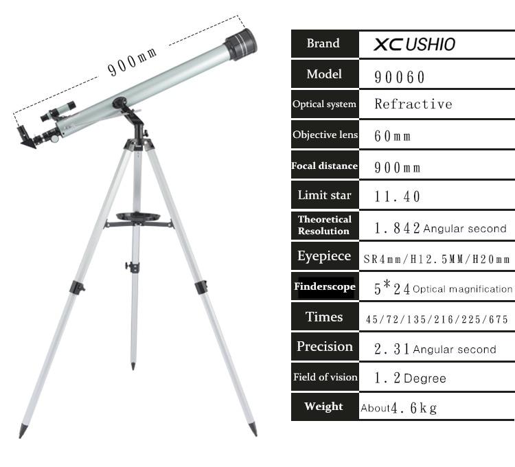 Astronomical Monocular Telescope Zooming Space USHIO 525 Outdoor Observation Telescopio XC 675 Astronomical Times Telescope
