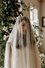 Romantic Long Pearl Veils One Layler 3M Bridal Cathedral 3 Meters Wedding Bride Accessories 2020