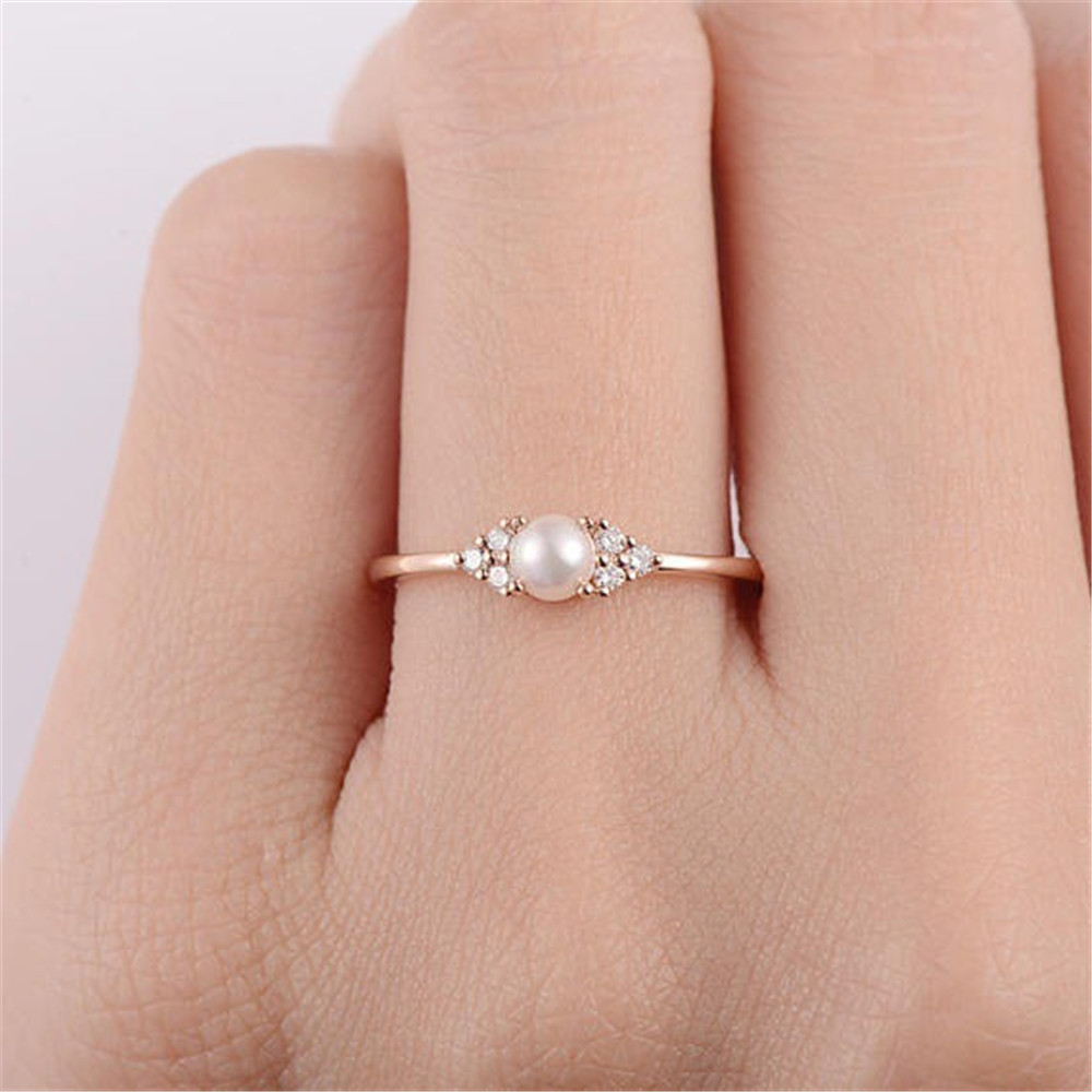 YKNRBPH Women's Pearl Ring For Women's S925 Sterling Silver Party /Weddings Jewelrys