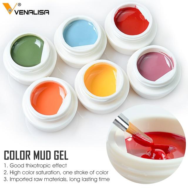 VENALISA Color Mud Gel 2021 Newest Pure Color Paint Gel DIY Nail Art Design Quality Nail Gel Polish Manicure Varnishes UV Gel 2