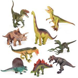 Image 5 - Dinosaur Toy Figure w/ Activity Play Mat & Trees, Educational Realistic Dinosaur Playset to Create a Dino World Including T Rex,