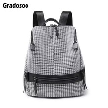 Gradosoo Casual Backpack Women New Hiking Female Large Capacity School Bags For Travel LBF618
