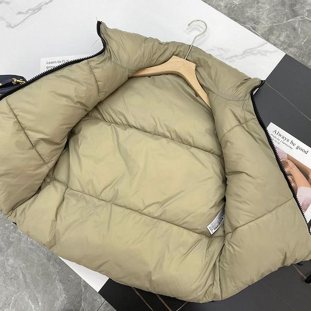 2021 Autumn Winter Women Fashion Double-Sided Jacket Coat Vintage Black Warm Sleeveless Cotton Outwear Female Casual Short Tops 5