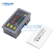 Ac 110V 220V 12V Digitale Tijdrelais Dual Led Display Cycle Timer Schakelaar Verstelbare Timing relais Vertraging Schakelaar