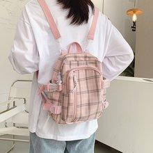 Female Backpack Waterproof School-Bags Travel Teenage-Girls Student Fashion Women Plaid