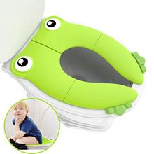 Travel Portable Folding Potty Training Toilet Seat Cover, Non Slip Silicone Pads, Suitable for