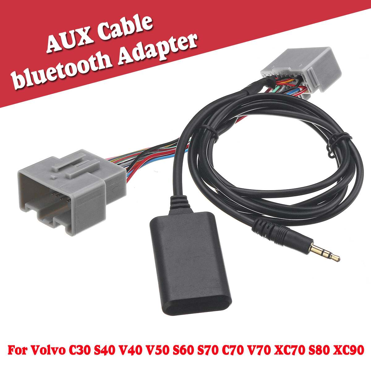 HIFI Music Bluetooth Adapter AUX Audio Radio Cable For VOLVO C S V XC 30 40 50 60 70 80 90