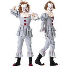 Cosplay Costume Pennywise Fantasia di Halloween Outfit Suit Pagliaccio Stephen King's Costume Uomini Adulti Costume Joker Costume(China)