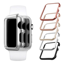 Aluminum metal hard shell Protector cover for apple watch case series 3 2 1 for iwatch 38mm 42mm Anti-fall frame protective Case pc cover case for apple watch 3 2 1 42mm 38mm iwatch series watch case colorful plating full frame protective case armor shell