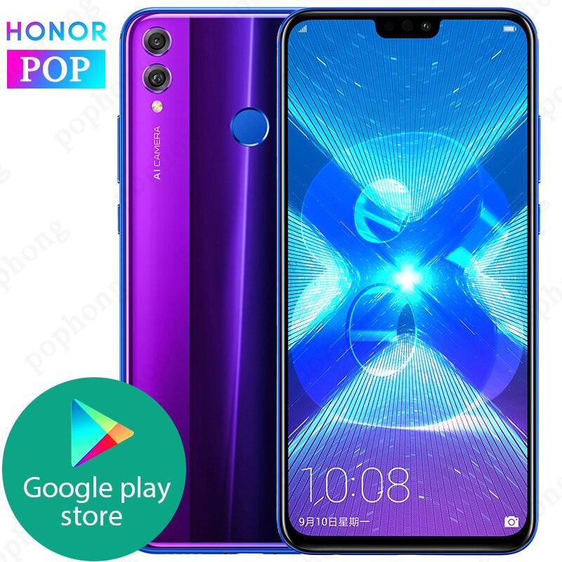 グローバル Rom Huawei 社名誉 8X Mobilephone に 6.5 インチ画面 3750 4050mah バッテリーの android 8.2 デュアルバック 20MP カメラスマートフォン OTA 更新  グループ上の 携帯電話 & 電気通信 からの 携帯電話 の中 1