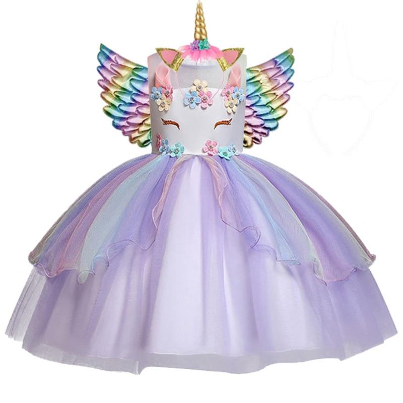Tüdrukute Ükssarvik kostüüm 3