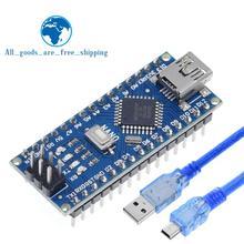 TZT Mini USB с контроллером загрузчика Nano 3,0 совместимый для arduino CH340 USB драйвер 16 МГц NANO V3.0 Atmega328