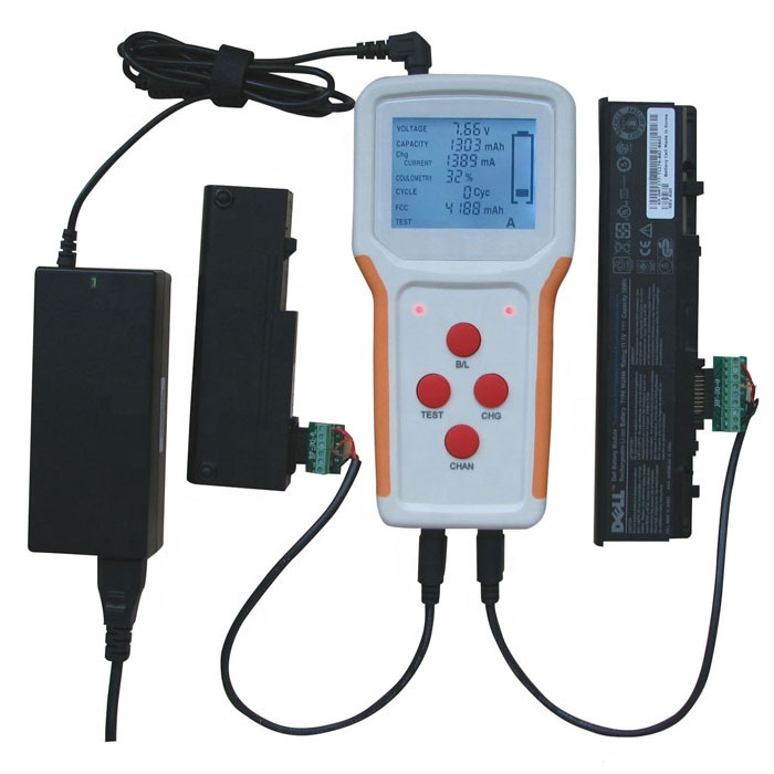 Universal Portable RFNT2 RFNT3 RFNT4 Laptop Notebook Battery Tester RFNT2 RFNT3 Test Charge Two Battery Channels