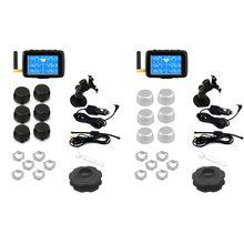 U901 sistema di monitoraggio della pressione dei pneumatici Wireless per Auto TPMS per camion con 6 sensori esterni Display LCD a batteria sostituibile